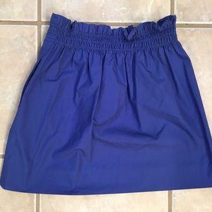 Jcrew purple fitted mini skirt